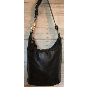 Coach Bleecker XL Black Leather Bucket Duffle Bag